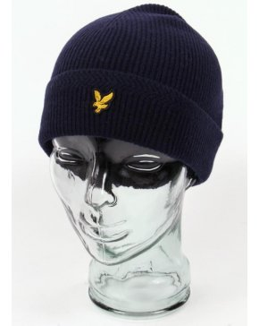 Lyle And Scott Racked Rib Beanie New Navy