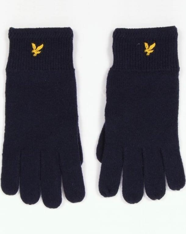 Lyle And Scott Racked Rib Gloves New Navy
