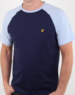 Lyle And Scott Raglan Ringer T-shirt Navy