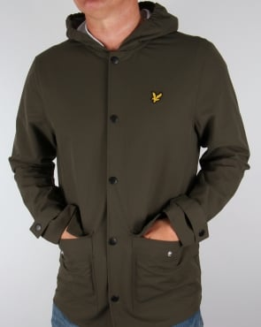 Lyle And Scott Raincoat Dark Sage