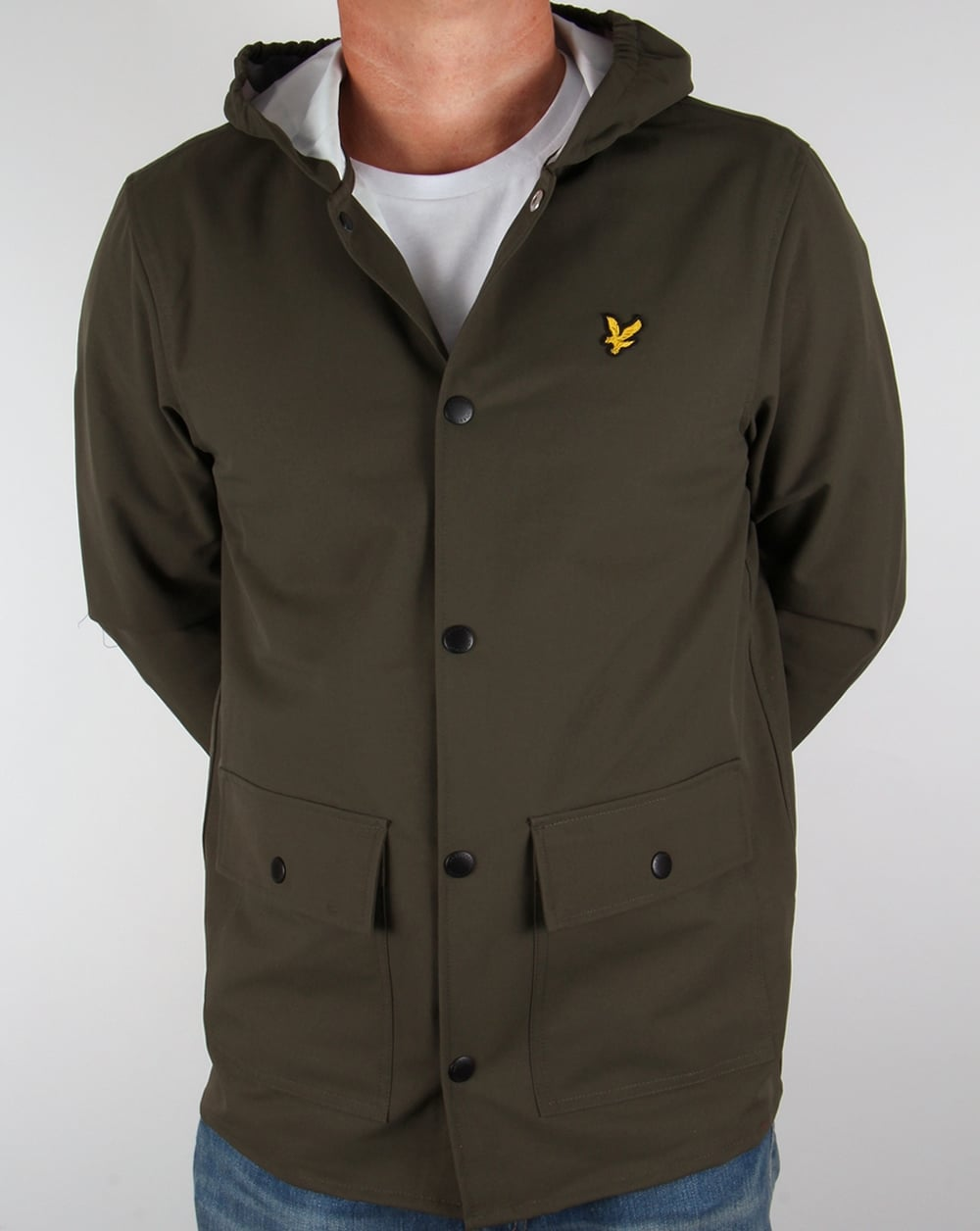 lyle and scott raincoat dark sage jacket men 39 s green coat. Black Bedroom Furniture Sets. Home Design Ideas