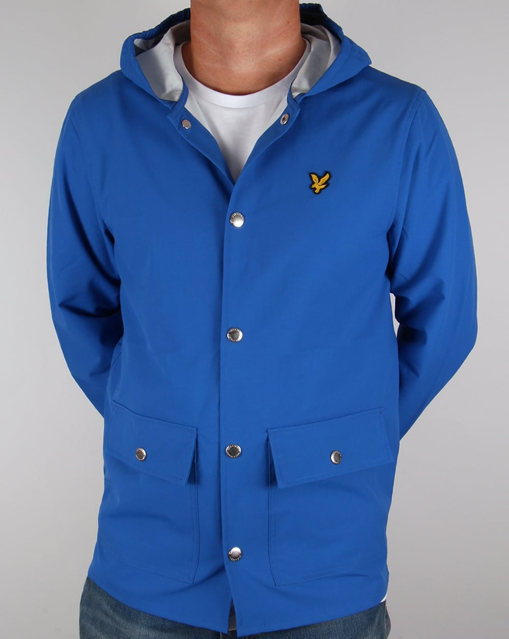 lyle and scott raincoat lake blue jacket mens green coat. Black Bedroom Furniture Sets. Home Design Ideas