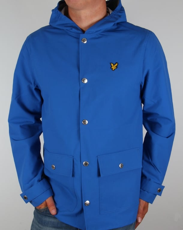 Lyle And Scott Raincoat Lake Blue