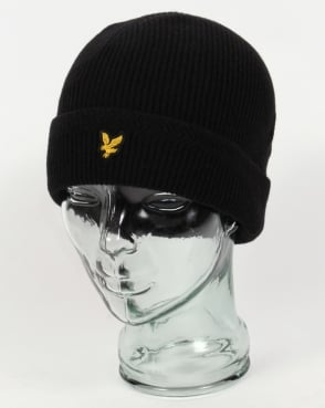 Lyle And Scott Ribbed Beanie Black
