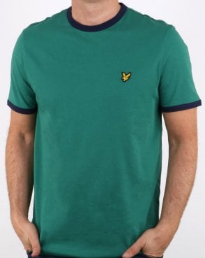 Lyle And Scott Ringer T Shirt Alpine Green/navy