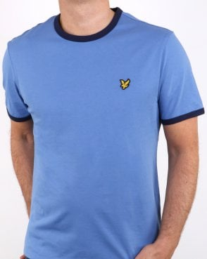 Lyle And Scott Ringer T Shirt Blue/navy