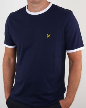 Lyle And Scott Ringer T Shirt Navy