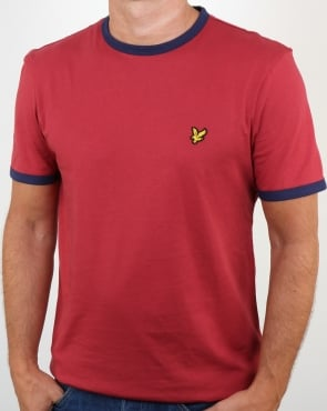 Lyle And Scott Ringer T Shirt Pomegranate