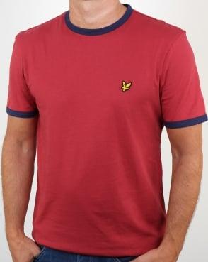 Lyle And Scott Ringer T Shirt Pomegranate