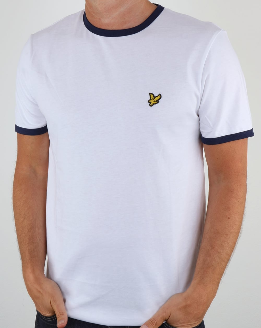 Lyle And Scott Ringer T Shirt White 80s Casual Classics