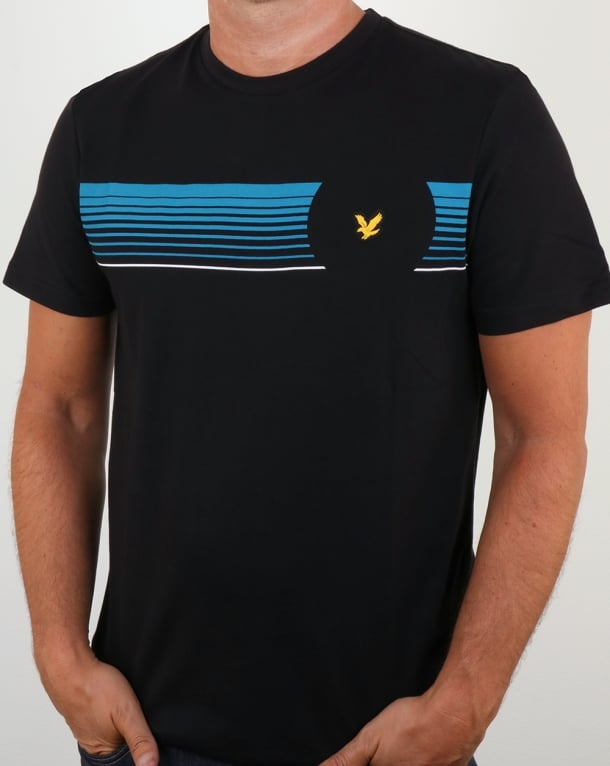 Lyle And Scott Robson Graphic T Shirt True Black