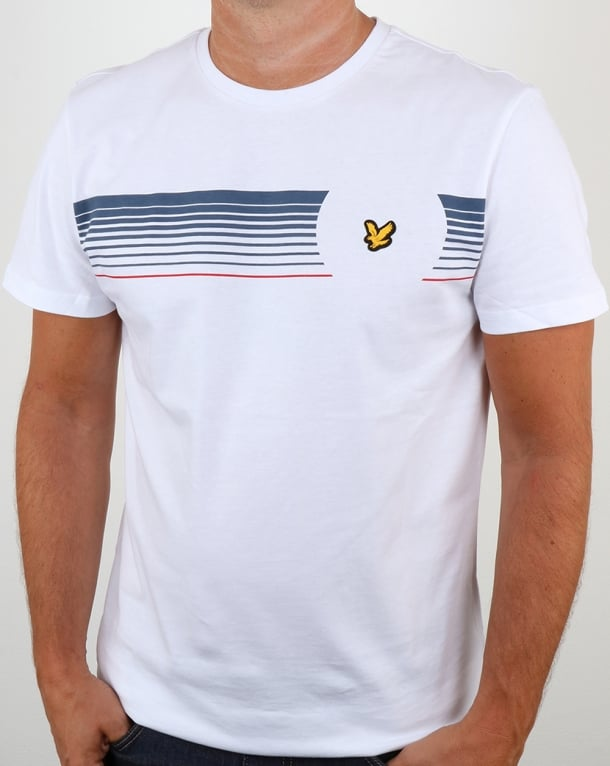 Lyle And Scott Robson Graphic T Shirt White
