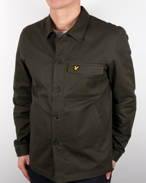 Lyle And Scott Shirt Jacket Dark Sage