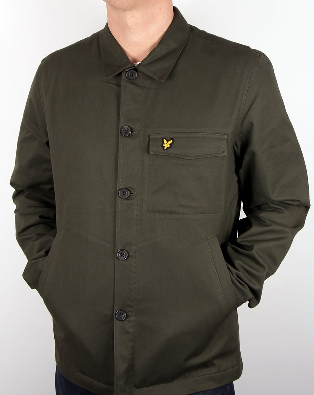 Lyle And Scott Shirt Jacket Dark Sage Men 39 S Top Coat