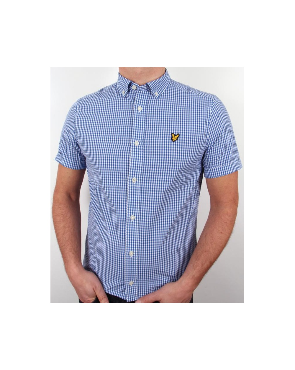 Lyle and scott short sleeve gingham check shirt french for French cut shirt sleeve
