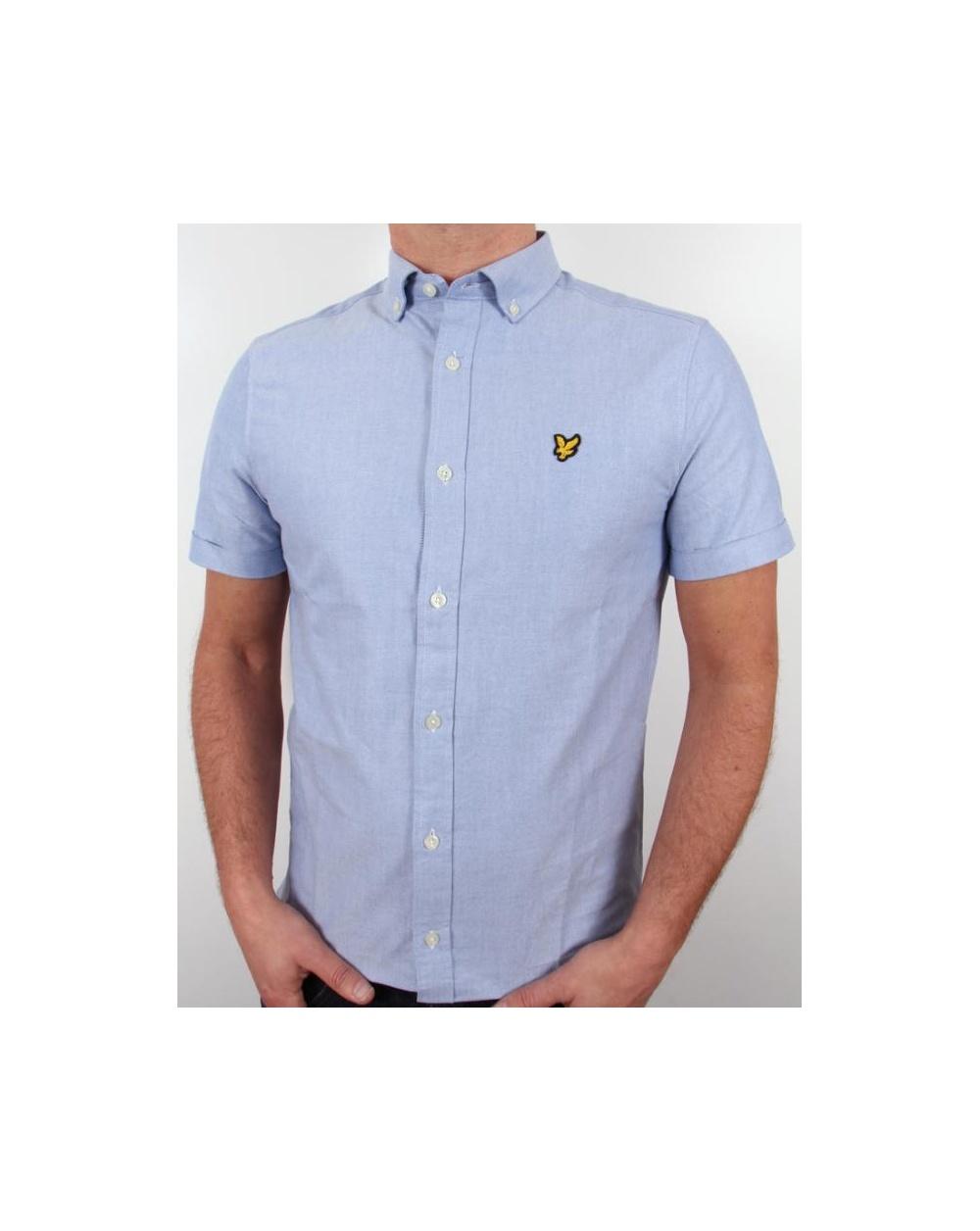 Lyle And Scott Short Sleeve Oxford Shirt Light Blue