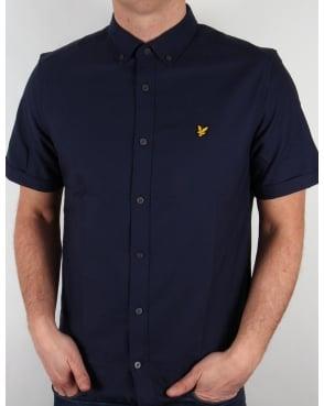 Lyle And Scott Short Sleeve Oxford Shirt Navy