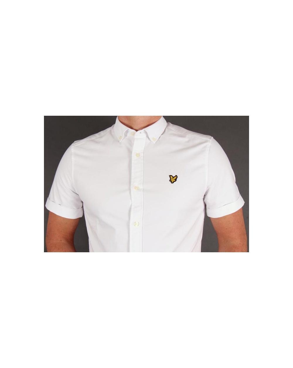 Lyle And Scott Short Sleeve Oxford Shirt White