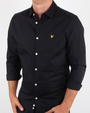 Lyle And Scott Slim Fit Poplin Shirt True Black