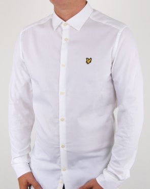 Lyle And Scott Slim Fit Poplin Shirt White