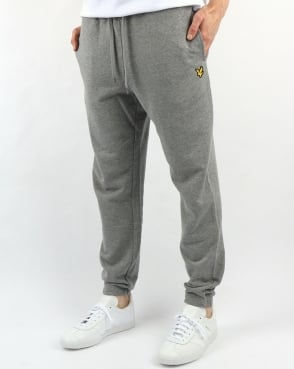 Lyle And Scott Slim Sweatpant Mid Grey Marl