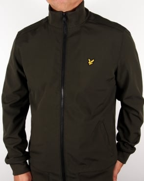 Lyle And Scott Soft Shell Jacket Dark Sage