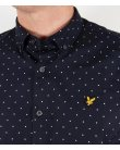 Lyle And Scott Square Dot Shirt New Navy
