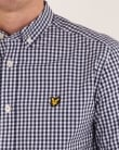 Lyle And Scott Ss Gingham Shirt Navy