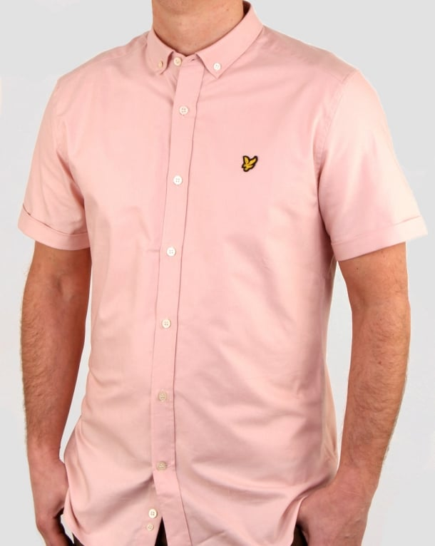 Lyle and Scott Ss Oxford Shirt Dusty Pink