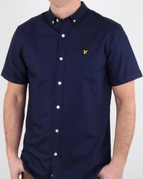 Lyle And Scott Ss Oxford Shirt Navy