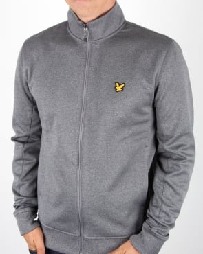 Lyle And Scott Steel Grey Funnel Neck Track Top