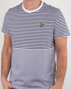 Lyle And Scott Stripe T Shirt Navy
