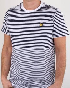 Lyle And Scott Stripe T Shirt Navy