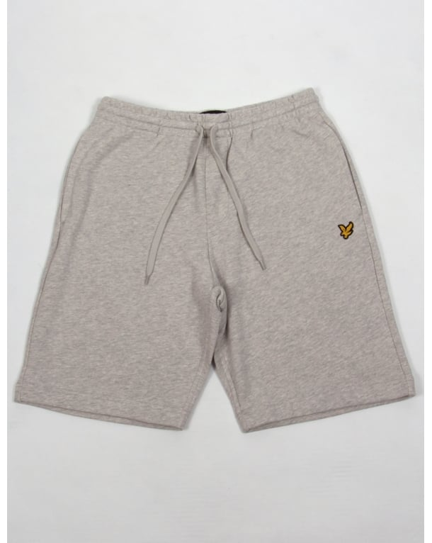Lyle And Scott Sweat Shorts Light Grey Marl