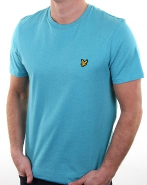 Lyle And Scott T-shirt Aqua Green Marl