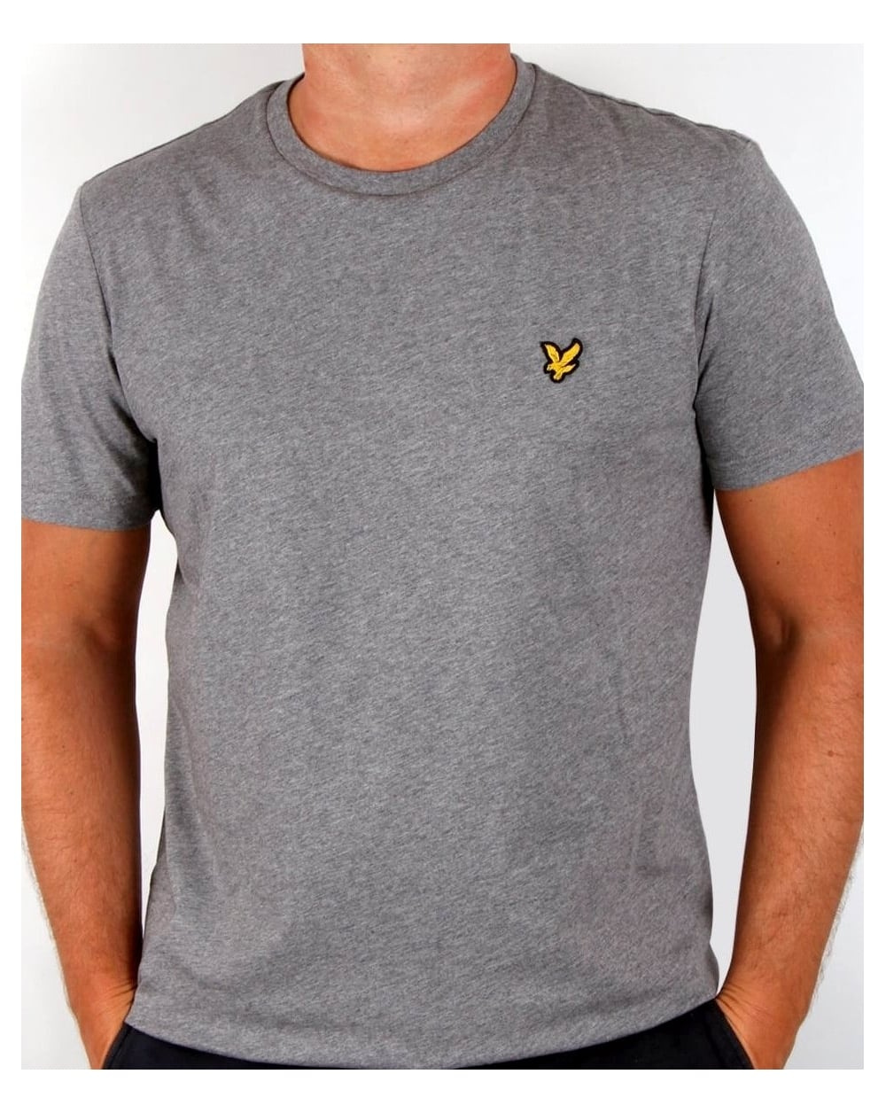 lyle and scott t shirt mid grey marl tee crew neck men 39 s. Black Bedroom Furniture Sets. Home Design Ideas