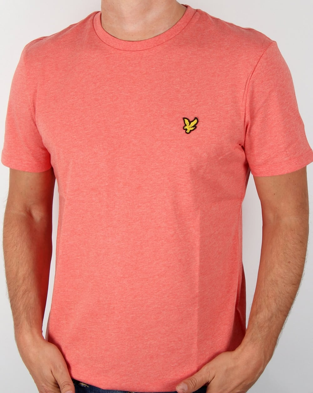 Lyle and scott t shirt terracotta marl tee crew neck round for Lyle and scott shirt sale