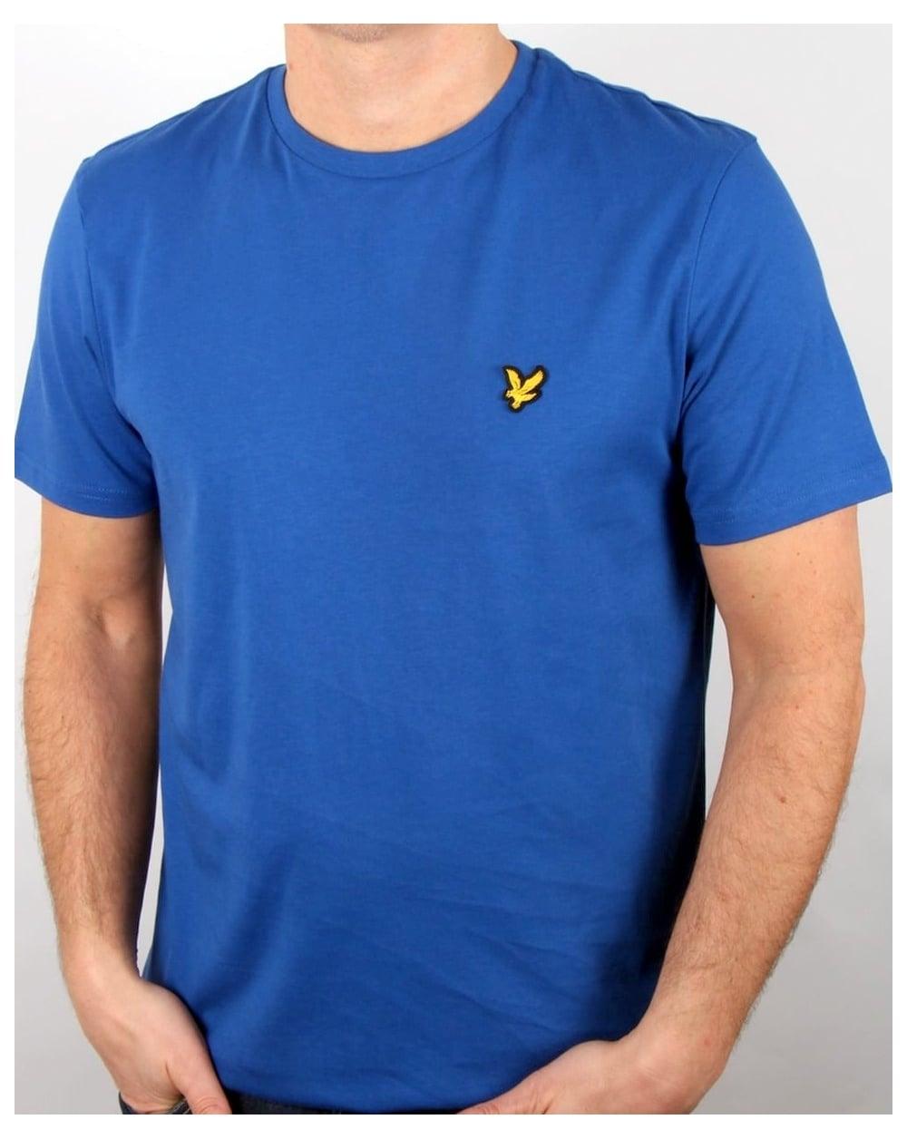 Lyle and scott t shirt true blue men 39 s tee round neck for Lyle and scott shirt sale
