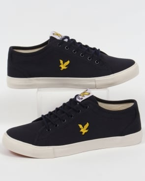 Lyle And Scott Teviot Twill Canvas Pumps New Navy