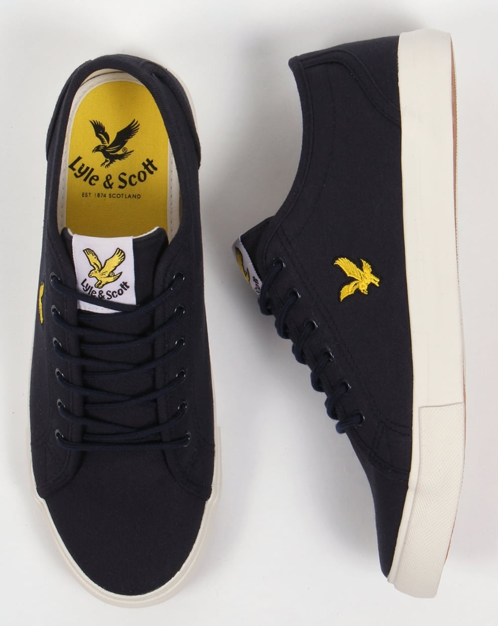 661b11c0d3b1 Lyle And Scott Teviot Twill Canvas Pumps New Navy