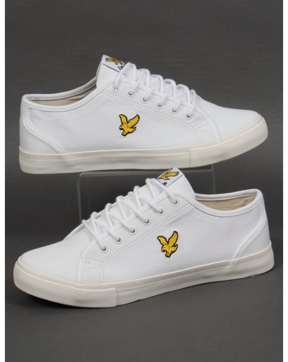 fbea6210c3ed Lyle and Scott Lyle And Scott Teviot Twill Canvas Pumps White