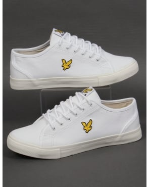 Lyle And Scott Teviot Twill Canvas Pumps White