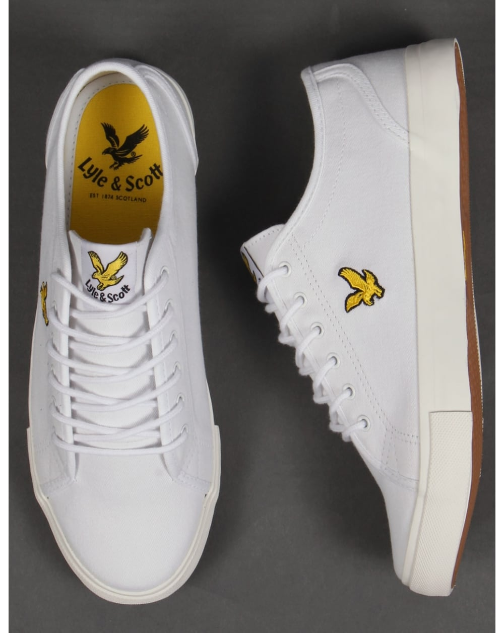 a3f53eebc9f3 Lyle And Scott Teviot Twill Canvas Pumps White
