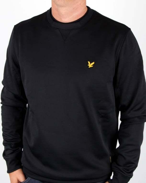 Lyle And Scott Thompson Fleece Crew Jumper True Black