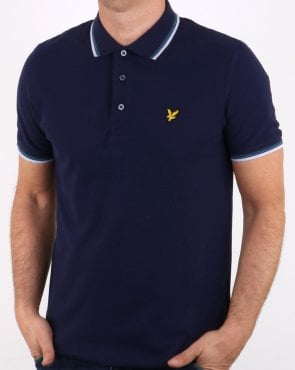 Lyle And Scott Tipped Polo Shirt Navy