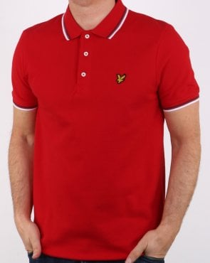 Lyle And Scott Tipped Polo Shirt Red