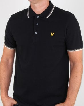 Lyle And Scott Tipped Polo Shirt True Black