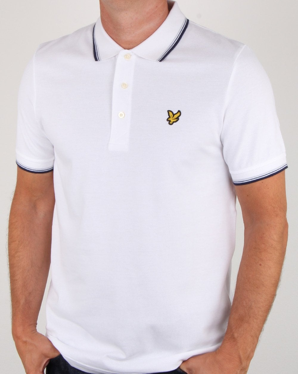 lyle and scott tipped polo shirt white mens polo cotton smart. Black Bedroom Furniture Sets. Home Design Ideas