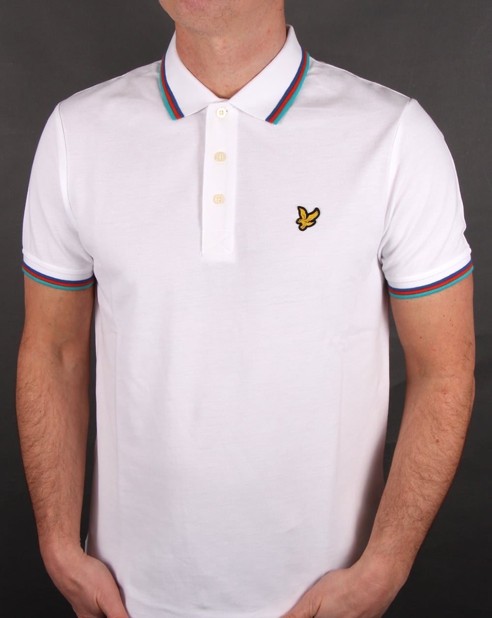 lyle and scott tipped polo shirt white men 39 s pique cotton top. Black Bedroom Furniture Sets. Home Design Ideas