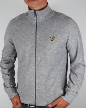 Lyle And Scott Track Jacket Mid Grey Marl